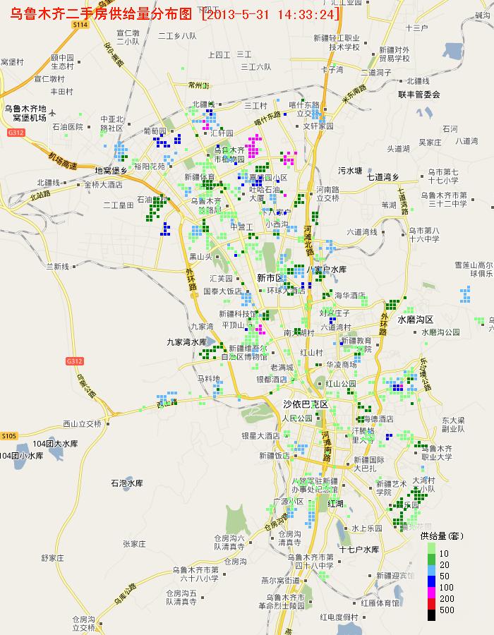 乌鲁木齐房价地图